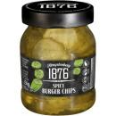 Hengstenberg spicy burger chips 250ml Glas