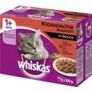 Großhandel Garten & Baumarkt: Whiskas mp 1 + fleischausw.12x100g