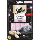 sheba creamy snacks with salmon 48g bag