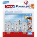 Tesa Powerstrips hooks oval, chrome,