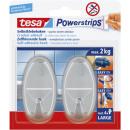 Tesa Powerstrips hook oval, chrome,