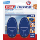 Tesa Powerstrips haken l oval, weiss,
