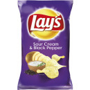 wholesale Food & Beverage: lays lays sour cream + pepper 175g bag