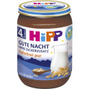 Großhandel Lebensmittel: hipp Nachtbrei bio hafer pur Glas