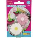 wholesale Decoration: Dekoback wafer flowers pink 2g
