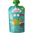 FruchtBar organic squeeze bag peach / 3-grain 100g
