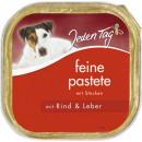 grossiste Fournitures pour animaux de compagnie: Tous les jours chien pas.rind + foie bol 300g