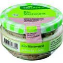 Großhandel Nahrungs- und Genussmittel: BioGreno bio mettwurst gekocht 160g Glas