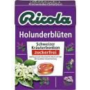 Ricola cukor elderflower nélkül 50g