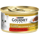 gourmet gold duo beef + chicken 85g tin
