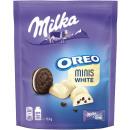 milka oreo minis white 153g bag