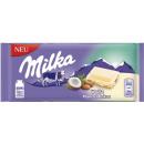 milka white almond coconut 90g bar