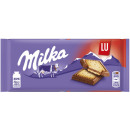 milka alps milk + lutece biscuits 87g blackboard