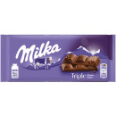 Milka Triple Chocolate 90g Plate