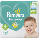 wholesale Toiletries: pampers baby dry gr.4 34er