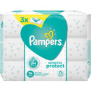 pampers wet wipe sensitive 3x52er