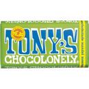 tonys choco dark almond salt 180g bar