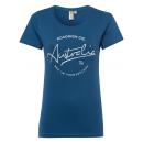 Damen Roadsign T-Shirt Rundhals , blau, Größe L