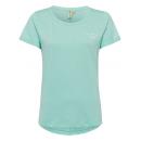 Großhandel Fashion & Accessoires: Damen T-Shirt keep the spirit, mint melange