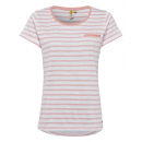 wholesale Home & Living: Ladies T-Shirt striped, rose / white, size XL