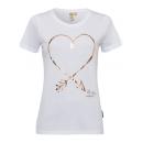 wholesale Fashion & Apparel: Ladies print shirt Heart, white