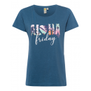 Ladies Print T-Shirt Aloha, blue