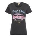 Großhandel Fashion & Accessoires: Damen T-Shirt Beach Cruiser, anthra