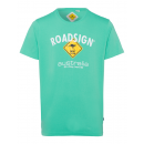 Heren T-Shirt Roadsign , groen, maat M.