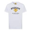 Herren T-Shirt Roadsign, weiss, Größe 2XL