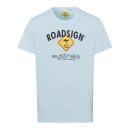 Herren T-Shirt Roadsign, hellblau, Größe 2XL