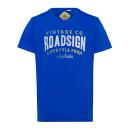 T-Shirt Roadsign Vintage , royal, col rond