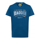 groothandel Kleding & Fashion: Heren T-Shirt Roadsign Vintage , blauw, ronde hals