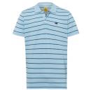Poloshirt voor heren, blauw / lichtblauw