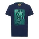 hurtownia Fashion & Moda: T-Shirt męski Brisbane Nadruk, granatowy, okrągły
