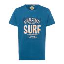 grossiste Vetement et accessoires: T-Shirt Homme Gold Coast, bleu, col rond
