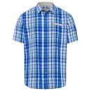 wholesale Drugstore & Beauty: Men's short sleeve shirt Urban Check, royal /
