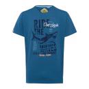 wholesale Fashion & Apparel: Men's T-Shirt Ride the Waves, blue