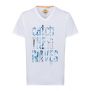 Men's T-Shirt Catch the Waves, white