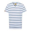 wholesale Fashion & Apparel: Men's T-Shirt Stripes Summer, white / blue / l