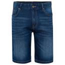 Herren Jeans Bermuda, blue denim