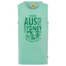 Férfi Tank Top Sydney, zöld, kerek nyak