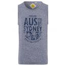 Großhandel Fashion & Accessoires: Herren Tank Top Sydney, marine, Rundhals