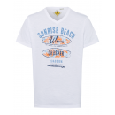Großhandel Fashion & Accessoires: Herren T-Shirt Sunrise Beach, weiss, V-Neck