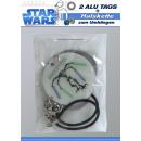 mayorista Artículos con licencia: Star Wars  etiquetas de  aluminio - en ...