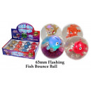 Glitzerball Fische  leuchtend 65mm - im Display