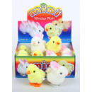 wholesale Toys: Windup plush bunny  chicks - in the Display