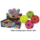 grossiste Jouets: SportBall lumineux 60 mm - en Display