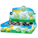wholesale Toys: Glitterball with  luminous football 65 mm - in the