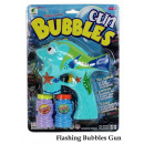 Soap bubble gun fish with light