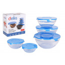 5-pack set with delia blue lid